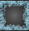 shampoo frame of realistic water bubbles vector image