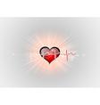 medical symbol ekg red heart center vector image