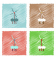 collection of flat shading style icons wind vector image vector image