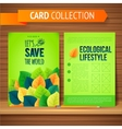 Flyer Brochure Design Template Leaves Natural and vector image