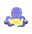 Octopus With The Template For The Message vector image