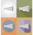 cinema flat icons 04 vector image vector image
