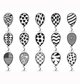 black pattern balloon icons vector image