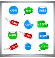 Collection Of Selling Badges and stickers vector image