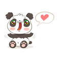 cute panda in kawaii style vector image