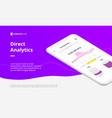 digital web banner for mobile app vector image