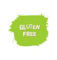 gluten free fresh vegan eco organic green vector image
