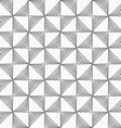 Gray striped rotated triangles vector image