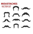 Mustaches set creative vector image