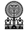 Polish monochrome folk art pattern Wycinanki vector image