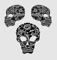 Skull head ornament decoration vector image