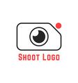 thin line simple shoot logo vector image