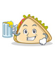 with juice sandwich character cartoon style vector image