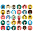 Set of diverse round avatars vector image vector image