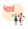 poster banner with happy girls women friends vector image
