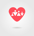 family heart icon vector image