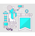 industrial of the mechanism of flag Color l vector image