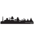 Kathmandu Nepal skyline Detailed silhouette vector image vector image