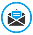Open Mail Rounded Icon vector image