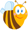 friendly bee vector image vector image