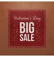 Red square paper Banner with Valentines Day Text vector image