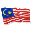political waving flag of malaysia vector image
