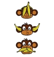 Three wise monkeys vector image