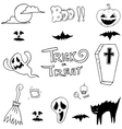 Doodle of set halloween collection vector image