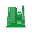 green cityscape isolated icon design vector image