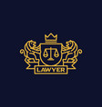 coat of arms lawyer vector image
