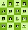 Flat alphabet letter logo icon set vector image