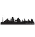 Kathmandu Nepal skyline Detailed silhouette vector image