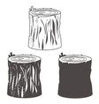 Stump silhouettes set vector image