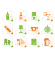 stylized night club bar and drink icons vector image