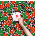 background of poker chips vector image