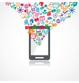 Mobile conceptual icons vector image