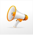 megaphone on white background vector image
