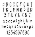 Hand Drawn Calligraphic Alphabet vector image