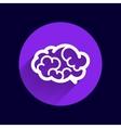 Brain icon mind medical symbol vector image