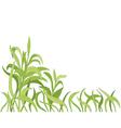 cartoon grass background vector image vector image