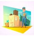 Warehouse retro cartoon vector image