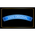 Blue ribbon banner black vector image