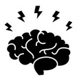 brainstorm - brain with flashes icon vector image
