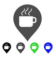 coffee cup marker flat icon vector image