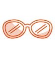 eye glasses modern style vector image