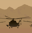 fighting helicopters in attack vector image