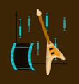 flat shading style icon music and cinema vector image