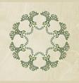 floral art frame vector image