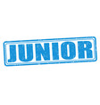 junior grunge stamp vector image