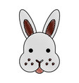 rabbit head isolated icon vector image